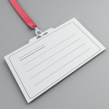 Photo of a blank ID badge